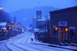Main Street in the Snow - Eureka Springs, Arkansas