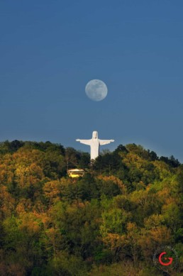 Christ and the Moon - Eureka Springs, Arkansas Photography