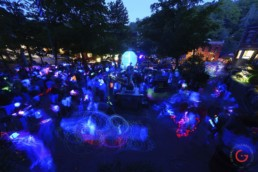 Sphere Lighting Party in Basin Park - Eureka Springs, Arkansas Photography