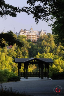 The Crescent Hotel from the East Mountain Overlook - Eureka Springs, Arkansas Photography