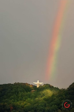 Christ and a Rainbow - Eureka Springs, Arkansas Photography
