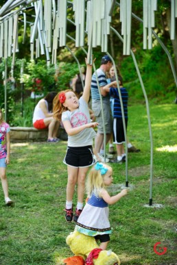 Kids Play in the Music Park - Eureka Springs, Arkansas Photography