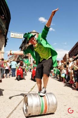 St Patrick's Day Parade in Spring Street - Eureka Springs, Arkansas Photography