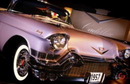 Pearled Pink Cadillac Front End Detail - Professional Car Photographer, Automotive Photography