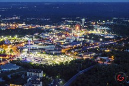 Night Time Aerial Photography of Hwy 76 - Branson, Missouri