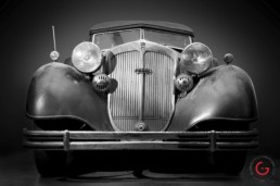 Front View - Horch Barn Find, Branson Classic Car Auction - Professional Car Photographer, Automotive Photography