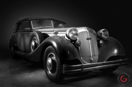 Front 3/4 View - Horch Barn Find, Branson Classic Car Auction - Professional Car Photographer, Automotive Photography
