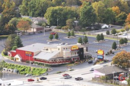 Aerial photo of Presleys Theater on hwy 76 in Branson - Advertising photographers in Branson Missouri, Branson Missouri photography