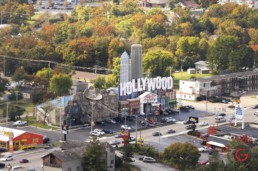 Hollywood wax museum aerial photo on hwy 76 in Branson - Advertising photographers in Branson Missouri, Branson Missouri photography