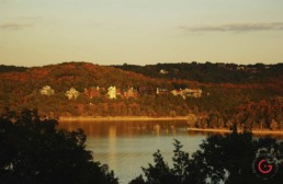 Homes overlooking table rock lake in the sunset. - Advertising photographers in Branson Missouri, Branson Missouri photography