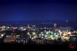 Branson Landscape in the night viewed from the Butterfly palace. - Advertising photographers in Branson Missouri, Branson Missouri photography