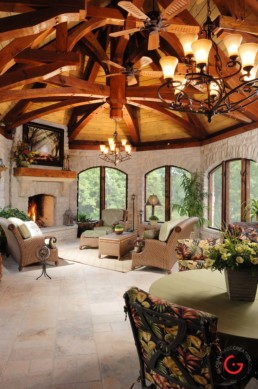 Ron Hill, screened in porch - Home Interior Photographer - Room Photography