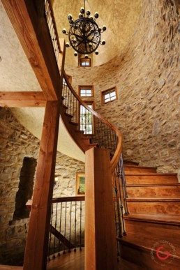 Ron Hill Castle Stairs, Home Interior Photographer - Room Photography