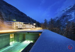 7132 Hotel and Therme in Vals, Switzerland -Professional Architecture Photographer and Commercial Photography of Buildings