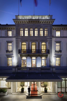 Hotel Baur au Lac Facade, Vals, Switzerland - Professional Architecture Photographer and Commercial Photography of Buildings