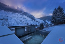 Peter Zumthor Theme, 7132 Hotel, Vals Switzerland - Professional Architecture Photographer and Commercial Photography of Buildings