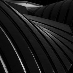 Roof Detail of Crystal Bridges Museum, Bentonville, Arkansas - Professional Architecture Photographer and Commercial Photography of Buildings