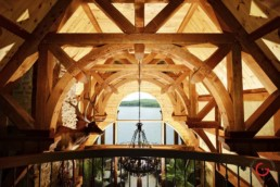 Ron Hill Timber Frame Roof Structure - Professional Architecture Photographer and Commercial Photography of Buildings
