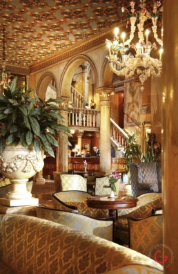 Hotel Danieli, Venice, Italy - Lobby Columns - Professional Architecture Photographer and Commercial Photography of Buildings