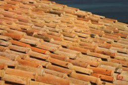 Terra Cotta Roof Tiles of the Hotel Romazzino, Sardinia, Italy - Travel Photographer of Italy Photoshoots, Italy Photography