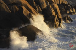 Closeup of Crashing Waves Late Day in Valle Della Luna, Sardinia, Italy - Travel Photographer of Italy Photoshoots, Italy Photography