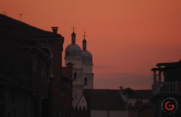 Red Sunset in Venice, Italy - Travel Photographer of Italy Photoshoots, Italy Photography