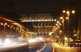The Colosseum at Night Rome, Italy - Travel Photographer of Italy Photoshoots, Italy Photography