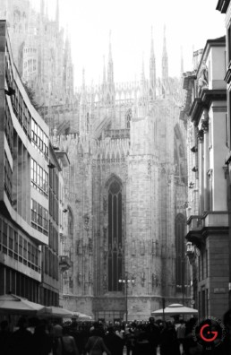 Duomo di Milano in Black and White, Milan, Italy - Travel Photographer of Italy Photoshoots, Italy Photography