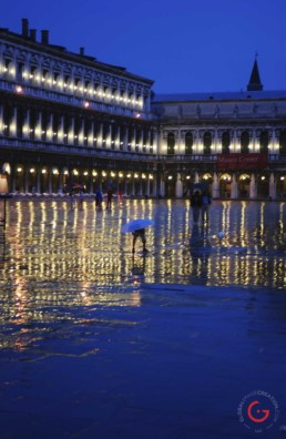 A Child Singing in the Rain, Venice, Italy - Travel Photographer of Italy Photoshoots, Italy Photography