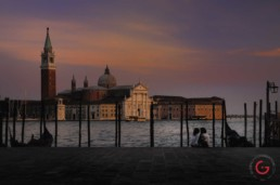 Lovers Sit by The Lagoon at Sunset, Venice, Italy - Travel Photographer of Italy Photoshoots, Italy Photography