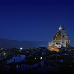 Duomo Illuminated in the Early Evening Skyline of Florence, Italy - Travel Photographer of Italy Photoshoots, Italy Photography