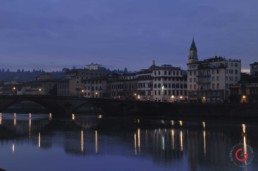Twilight Skyline of Florence Italy on the Arno - Travel Photographer of Italy Photoshoots, Italy Photography
