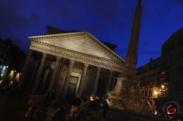 Deep Blue Night at the Pantheon, Rome, Italy - Travel Photographer of Italy Photoshoots, Italy Photography