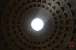 A Beam of Light Enters the Pantheon, Rome, Italy - Travel Photographer of Italy Photoshoots, Italy Photography