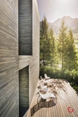 Swiss Mountain Terrace in Vals - Travel Photographer and Switzerland Photography