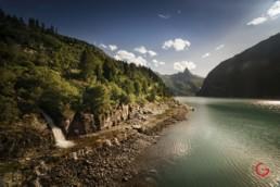 Zervreilasee near Vals, Switzerland - Travel Photographer and Switzerland Photography