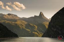 Zervreilasee at Late Day near Vals, Switzerland - Travel Photographer and Switzerland Photography