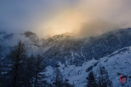 Snowy Mountain Sunrise in the Swiss Alps - Travel Photographer and Switzerland Photography