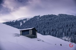 Winter Hut on the Mountain - Travel Photographer and Switzerland Photography