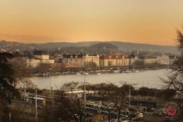 Opera House and Lake Zurich at Sunset - Travel Photographer and Switzerland Photography