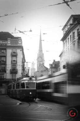 Trams in Zurich - Travel Photographer and Switzerland Photography