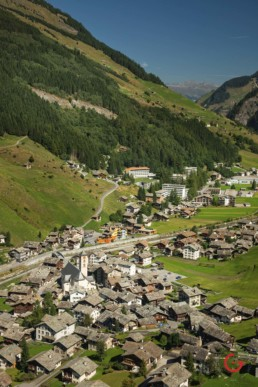 Aerial View of Vals in the Summer - Travel Photographer and Switzerland Photography