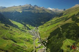 Aerial View of Vals in the Summer