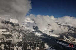 Snow covered Swiss Alps Landscape