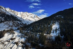 Snow covered Swiss Alps Landscape - Travel Photographer and Switzerland Photography