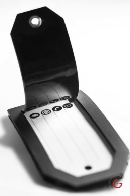 A Durable Privacy Luggage Tag for International Travel