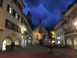Downtown Feldkirch Austria in the Evening