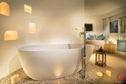 Pool Suite Bathroom at Gabbiano Azzurro Hotel & Suites