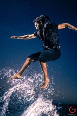 Kitesurfer Renzo Mancini Surfs on Air and Water