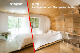 Hotel Room With and Without Photography Lighting